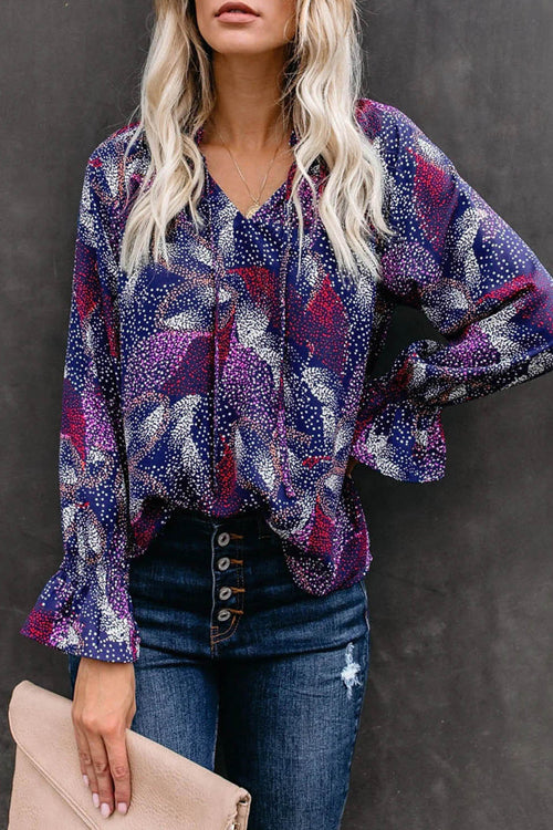 Sweet Spot Shivering Printed Long Sleeve Top - 4 Colors