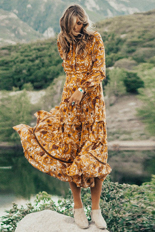 Bright Yellow Vacation Dress