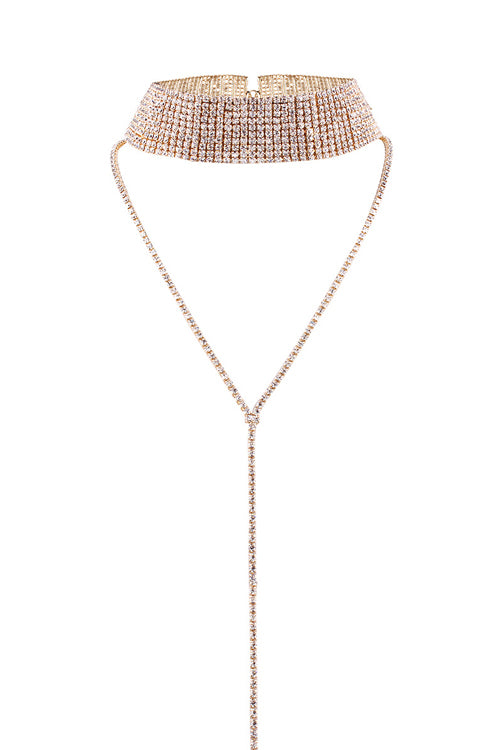 Crystal Shiny Tiered Choker