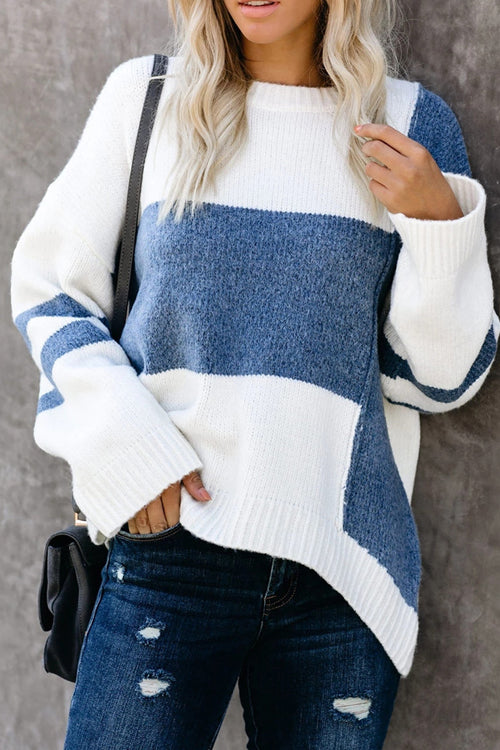 Embrace the Season Color Block Knit Sweater