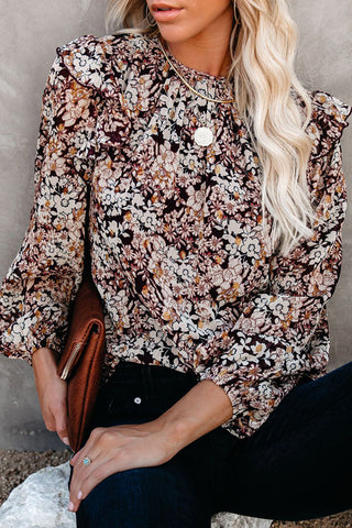 Dearest Daydream Lace Up Floral Print Top