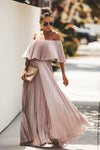 Love Spell Off Shoulder Maxi Dress - 2 Colors
