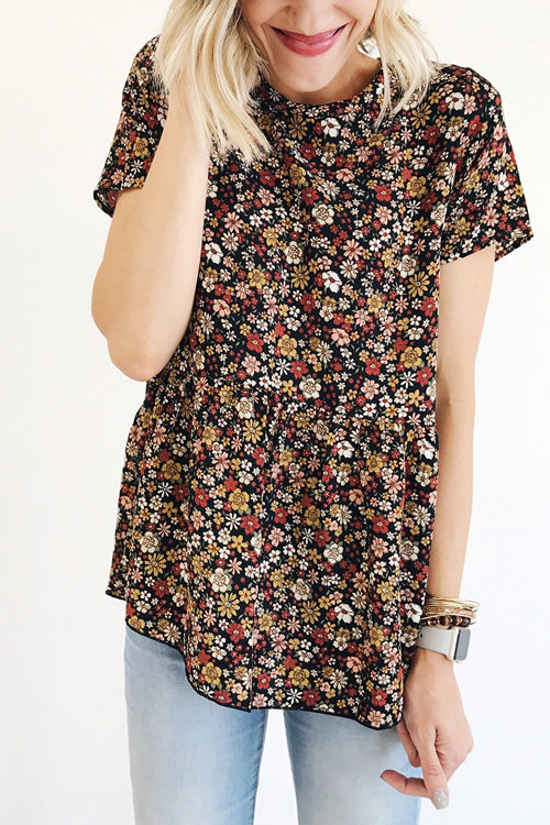 Pleasant Surprise Floral Print Tee - 4 Colors