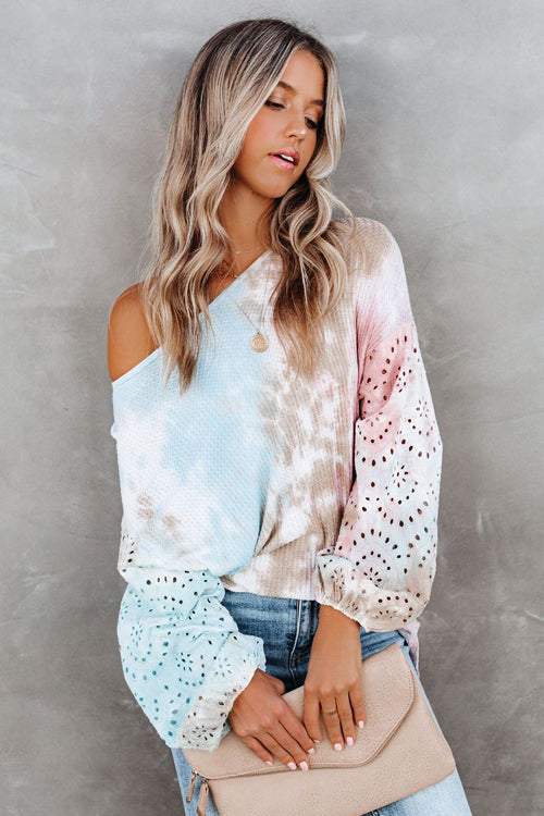 I'm Your Girl Tie-Dye Print Knit Sweater