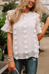 Easy To Spot Dotted Short Sleeve Top - 4 Colors
