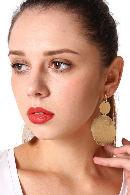 Frosted Metallic Geometric Earring