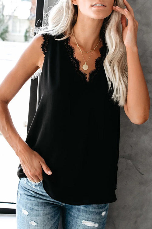 Always Lovely Lace Up Tank Top - 3 Colors