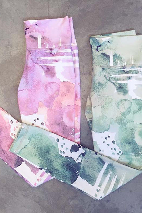 Yoga Wash Painting Leggings
