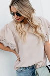 Stay with You Lace Sleeve Chiffon Blouse - 4 Colors
