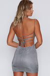 Silver Sparkle Backless Super Cool Dress