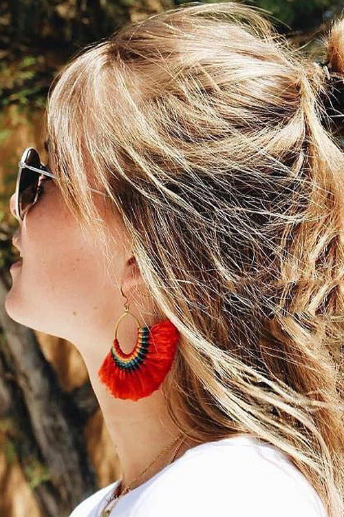 Tassel Drop Sector Earrings