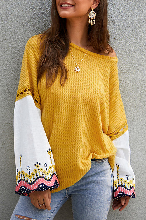 Class Cutie Floral Embroidered Long Sleeve Top - 5 Colors
