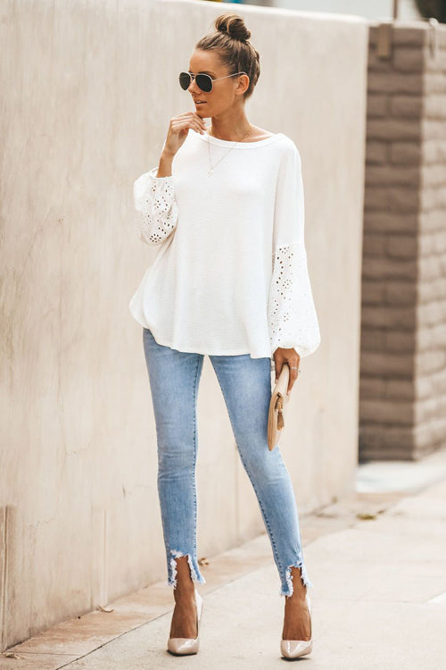 Best I Ever Had Hollow-Out Knit Top - 3 Colors