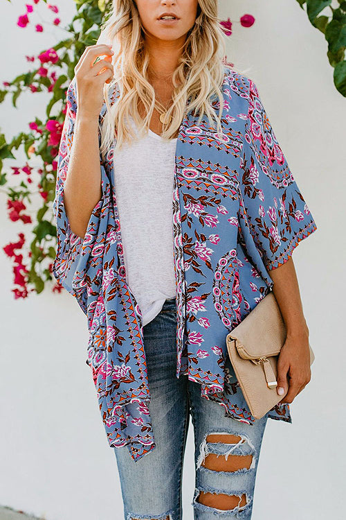 Lucky Break Boho Print Duster - 4 Colors