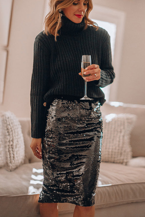 Watch Me Wow Sequin Midi Skirt - 4 Colors