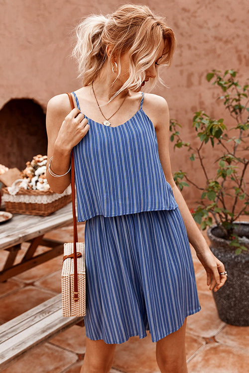 Thinking Out Loud Striped Spaghetti Romper - 3 Colors