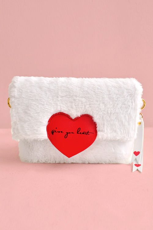 Give You Heart Fluffy Bag