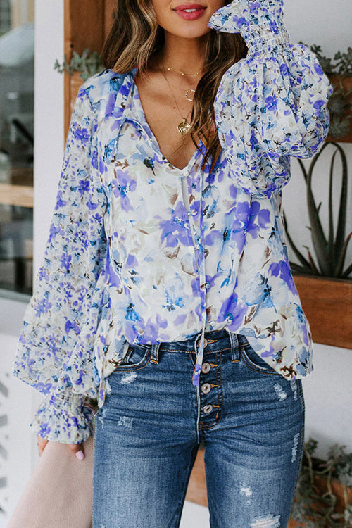 Desert Days Sheer Floral Print Top