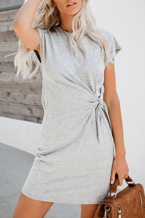 Love and Joy Short Sleeve Shift Mini Dress - 2 Colors