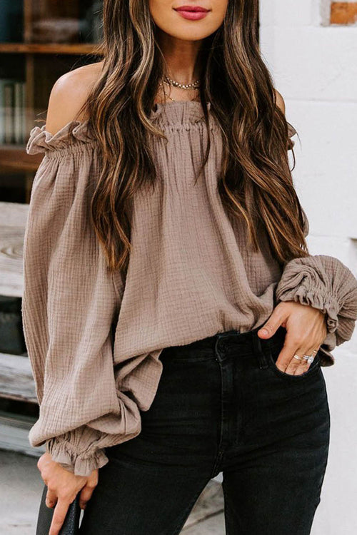 Justing Vibing Off The Shoulder Long Sleeve Top - 3 Colors