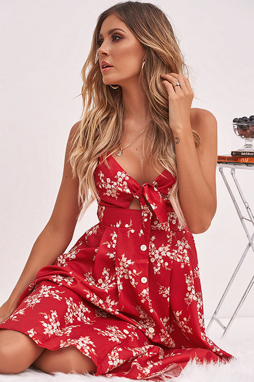 Summer Flower Print Midi Dress - 3 Colors
