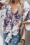 Real Charmer Shivering Print Bowknot Shirt - 3 Colors