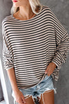Always Lovely Stiped Casual Knit Top - 2 Colors