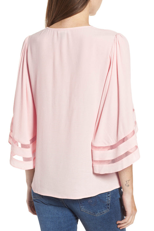 Sweetly Charmed V-Neck Bell Sleeve Top - 5 Colors