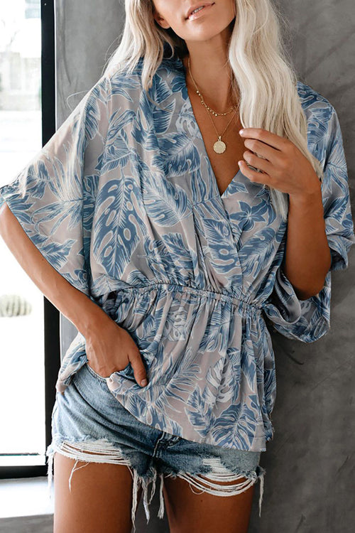 Need You Here Floral Print Wrap Top - 3 Colors