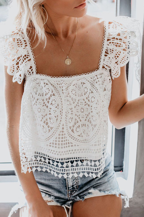My Muse Lace Up Smocked Tank Top - 2 Colors