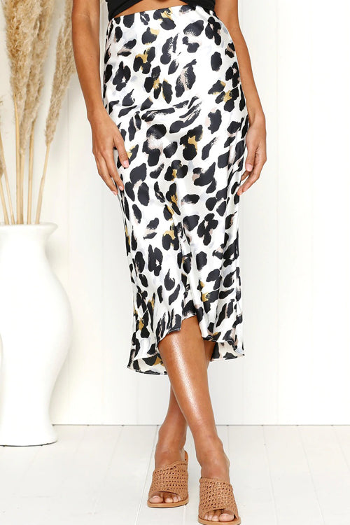 Monique Leopard Print Fishtail Midi Skirt - 3 Colors