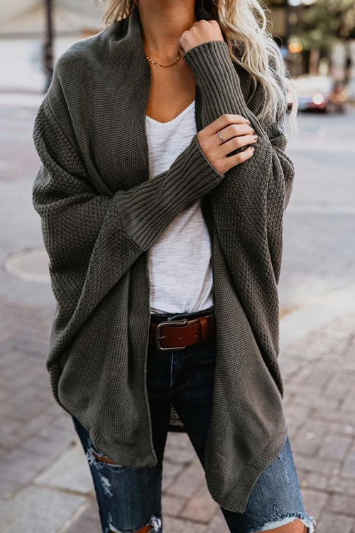 Cozy Cutie Bat-wing Sleeve Sweater Cardigan
