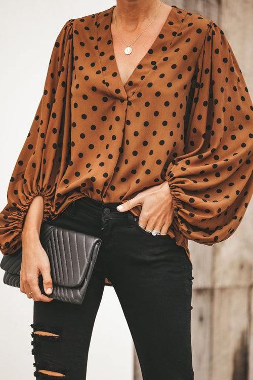 Comfy Cozy Dotted Printed Long Sleeve Top - 4 Colors