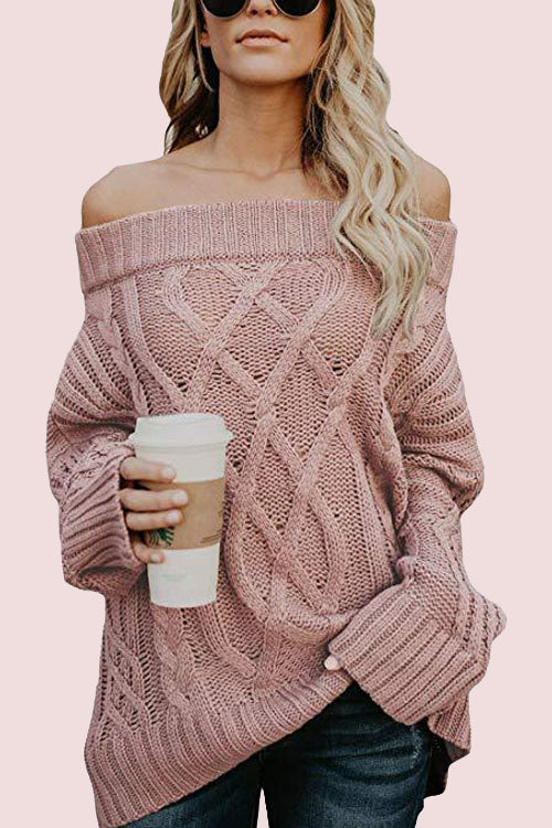 Carmichael Off the Shoulder Knit Sweater - 3 Colors