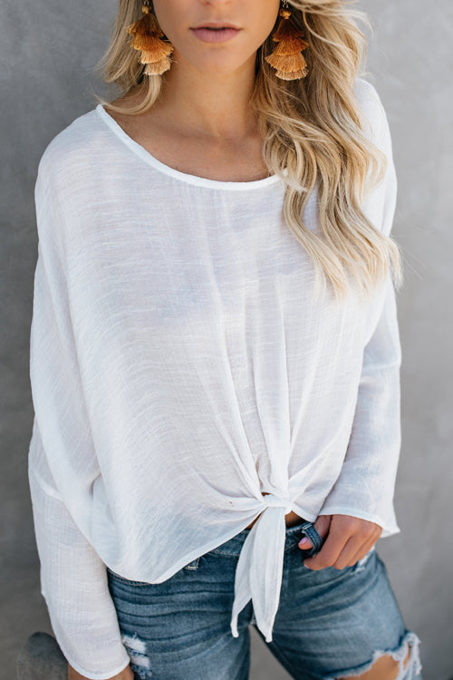 Pretty Pleased Bowknot Loose Blouse - 4 Colors