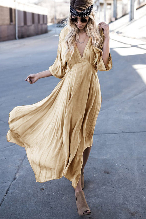 Love of Mine V-neck Flare Maxi Dress