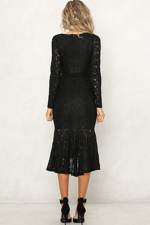 Flutter And Flow Lace Midi Dress - 2 Colors