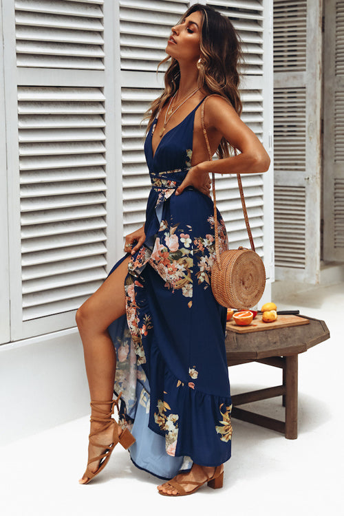 Always Stunning Floral Print Maxi Dress
