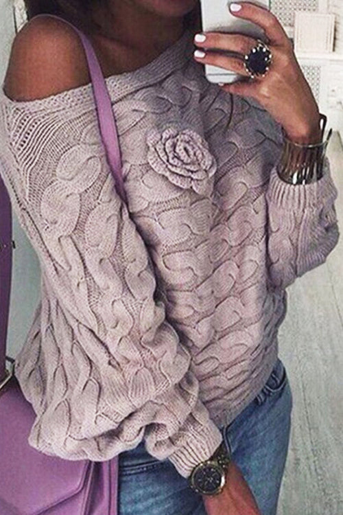 Ticket to Cozy Rose Knit Sweater - 2 Colors