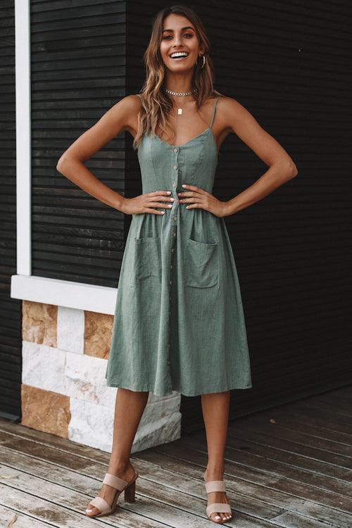 Days Like This Spaghetti Pleated Dress - 3 Colors