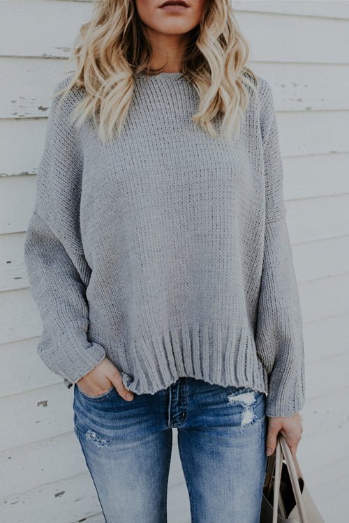See Ya Backless Bat-wing Sleeve Sweater - 2 Colors