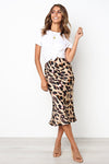 Bird Print Flare Skirt - 2 Colors
