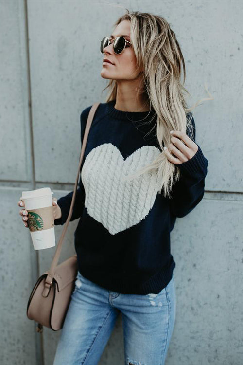 License to Love Heart Knit Sweater - 3 Colors