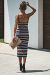 Trip to Tobago Stripe Knit Midi Dress - 2 Colors
