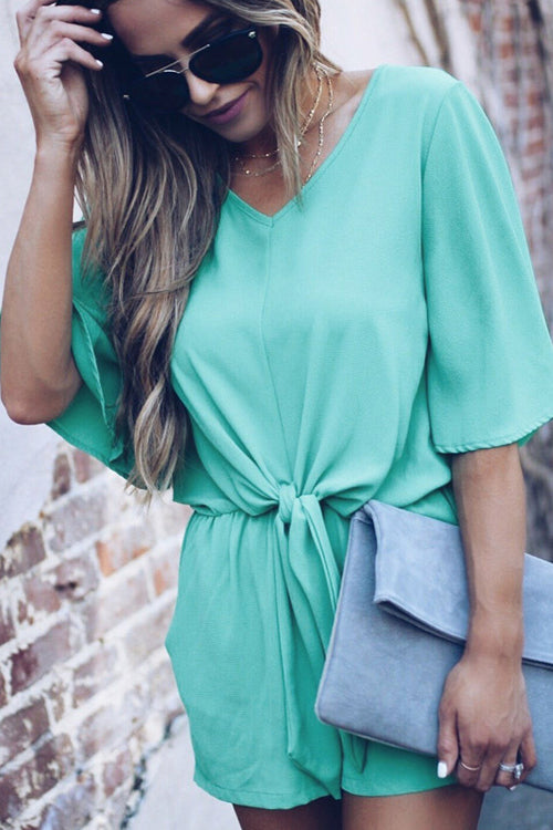 Rusty Rose Back-slit Romper - 3 Colors