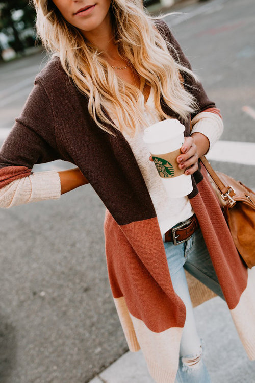 Simply Amazing Blush Stripe Knit Cardigan