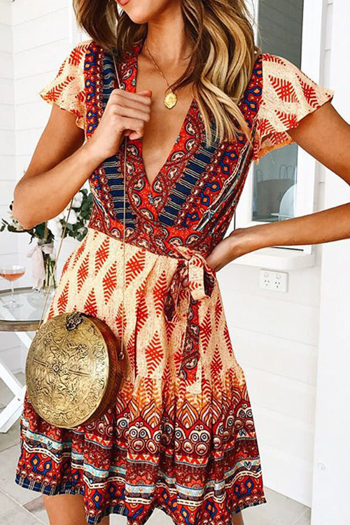 Forever Your Girl Boho Print Mini Dress - 3 Colors