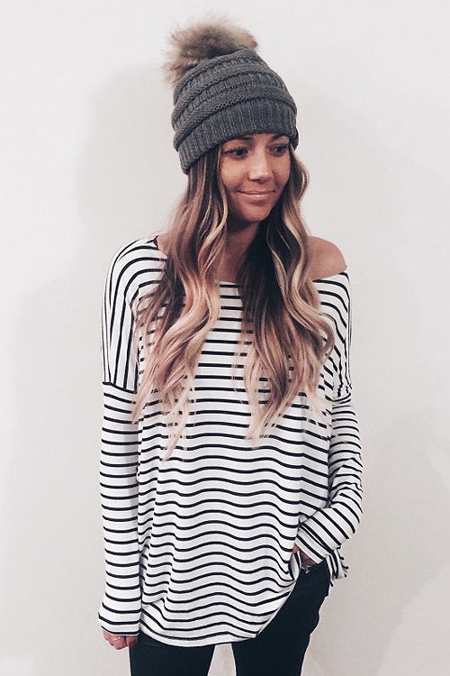 Less Is More Stripe Long Sleeve Top - 3 Colors