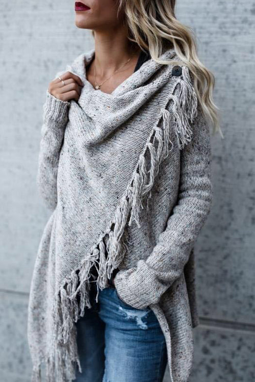 Cozy Up Tassel  Sweater Coat - 5 Colors