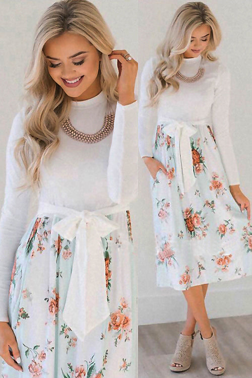 Sing at Sunset Long Sleeve Midi Dress - 12 Colors